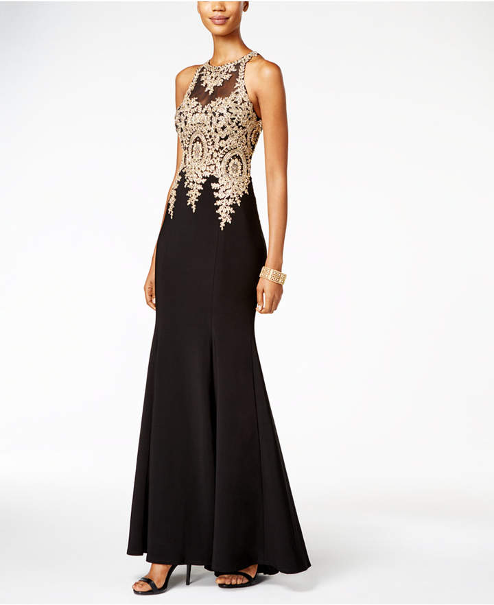 Xscape Evenings Floral-Lace Mermaid Gown