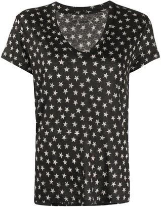 Zadig & Voltaire Archie Nova Stars v-neck T-shirt