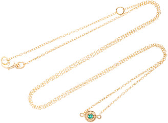 Octavia Elizabeth 18K Gold Emerald Necklace