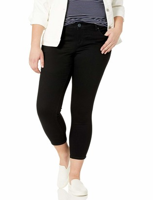 SLINK Jeans Women's Plus Size Black Ankle Skinny