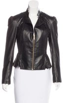 ALICE by Temperley Laser Cut Leather Jacket