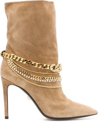 ALEVÌ Milano Chain-Embellished Boots