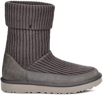 UGG Rib-Knit Wool-Blend Boots