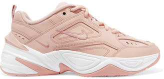 Nike M2k Tekno Leather And Mesh Sneakers - Beige