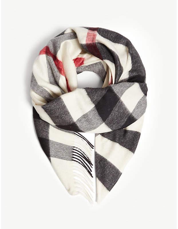 Burberry House check cashmere bandana