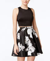 Sequin Hearts Juniors' 2-Pc. Crop Top and Floral-Print Skirt, a Macy's Exclusive Style