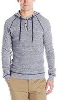 Buffalo David Bitton Men's Walkio Long Sleeve Waffle Hooded Sweater