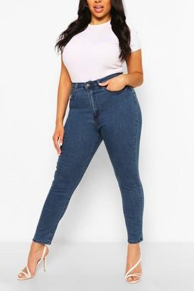 boohoo Plus Butt Shaper High Rise Skinny Jeans