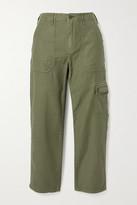 Frame Service Cotton-canvas Straight-leg Pants