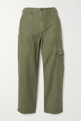 Frame Service Cotton-canvas Straight-leg Pants - Army green