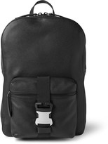 Safety Buckle Textured-Leather Backpack