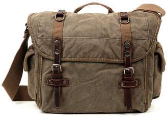 Tsd Brand Silver-Tone Road Canvas Messenger Bag