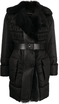 Ermanno Scervino Padded Pattern Fur Coat