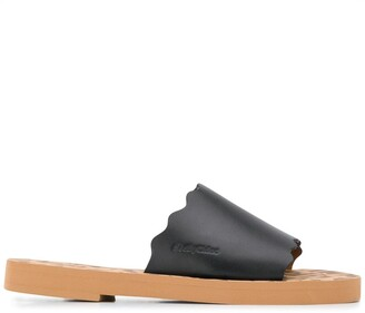 See by Chloe Scalloped Leather Flats