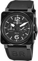 Bell & Ross Men's BR-03-94-CARBON Aviation Chronograph Dial Watch