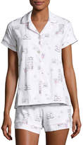 BedHead Short-Sleeve Print Shortie Pajama Set, Winter Shopping