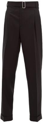Officine Generale Pierre Buckled Wool-twill Trousers - Womens - Black
