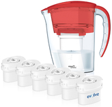 Aqua Optima 12 Month Bundle Galia Jug Plus 6 Cartridges 2.25L - Red
