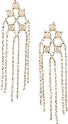Rosantica Crystal-Embellished Hanging Chain Earrings