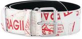 MM6 MAISON MARGIELA printed faux leather belt - women - Polyurethane/Viscose/Aluminium/copper - S