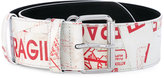 MM6 MAISON MARGIELA printed faux leather belt - women - Polyurethane/Viscose/Zinc/Aluminium - S