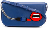 Yazbukey lips patch crossbody bag - women - Calf Leather/Plexiglass - One Size