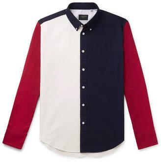 Rag & Bone Tomlin Slim-Fit Button-Down Collar Colour-Block Cotton Oxford Shirt