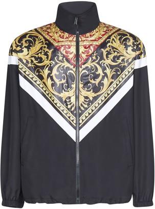 Versace Barocco Zipped Nylon Jacket