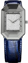 Jowissa Women's J8.010.M Scala Stainless Steel Blue Genuine Leather Rhinestone Imprint Dial Watch