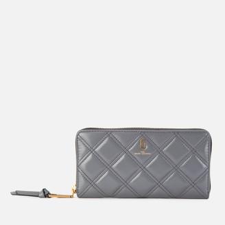 Marc Jacobs Women's Quilted Softshot Standard Continental Wallet - Dark Grey
