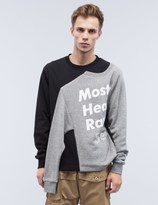 Mostly Heard Rarely Seen Illusion Crewneck Sweatshirt