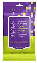 Andalou Naturals Age Defying Micellar Facial Cleansing Swipes, 12-Piece