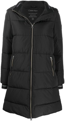 Calvin Klein Detachable-Hood Padded Coat
