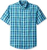 Arrow Men's Short Sleeve Pacific Coast Madras Plaid Shirt