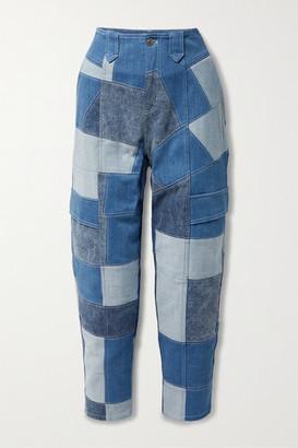 Stella McCartney - Net Sustain Patchwork Organic Tapered Jeans - Mid denim