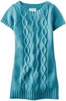 Cherokee Girls' Cable Knit Sweater Dress