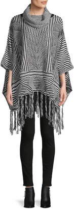 Lucca Knitted Cowlneck Poncho