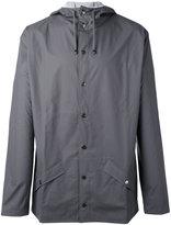 Rains flap pockets hooded jacket