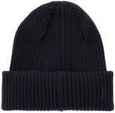 Paul Smith Navy Ribbed Cashmere Beanie