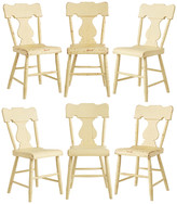 Rejuvenation Set of 6 Farmhouse Lyre-Back Chairs