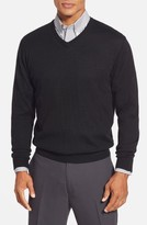 Cutter & Buck Men's 'Douglas' Merino Wool Blend V-Neck Sweater