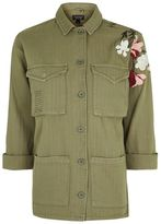 Topshop Floral embroidered shacket
