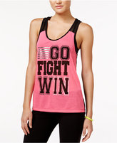 Material Girl Active Mesh-Back Graphic Tank Top, Only at Macy's