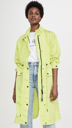 AVEC LES FILLES Oversized Nylon Rain Anorak