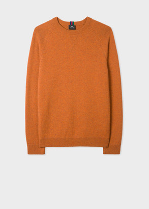 Men's Orange Merino Raglan Sleeve Sweater