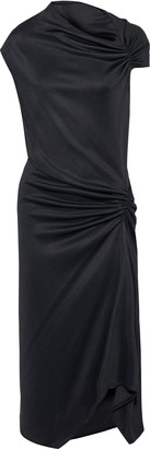 Narciso Rodriguez Ruched Draped Jersey Dress
