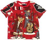 Dolce & Gabbana Band Print Cotton Jersey T-Shirt
