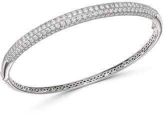 Bloomingdale's Pave Diamond Bangle in 14K White Gold, 3.50 ct. t.w. - 100% Exclusive