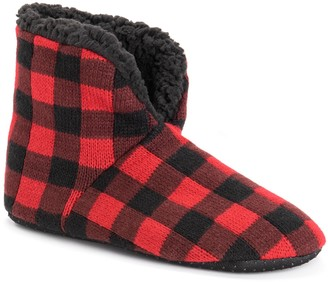 Muk Luks Men's Knit Bootie Slippers