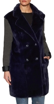 Tasha Tarno Sheared Fur Coat with Knit Sleeves